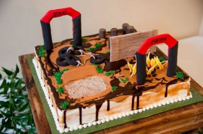 football stadium groom's cake