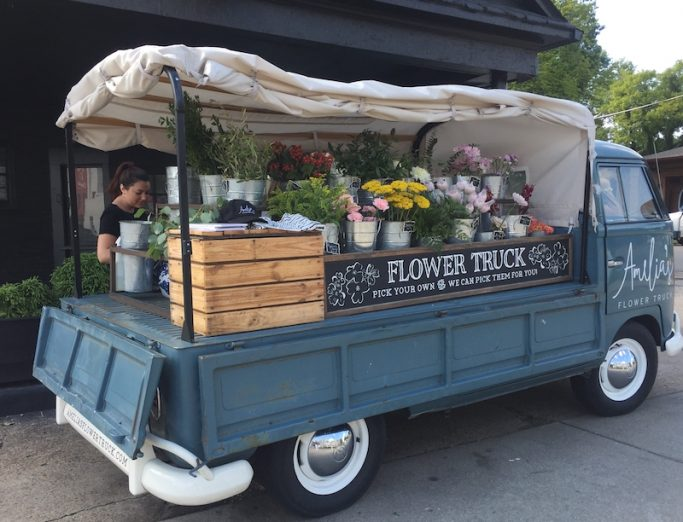 Amelia's Flower Truck in Nashville's Twelve South Neighborhood