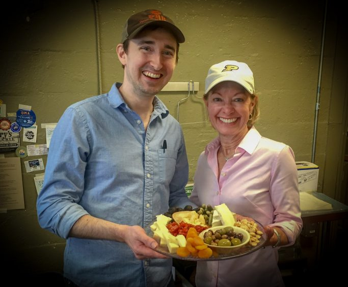 Pam Lamp and Mark Bilbrey make the perfect cheese platter