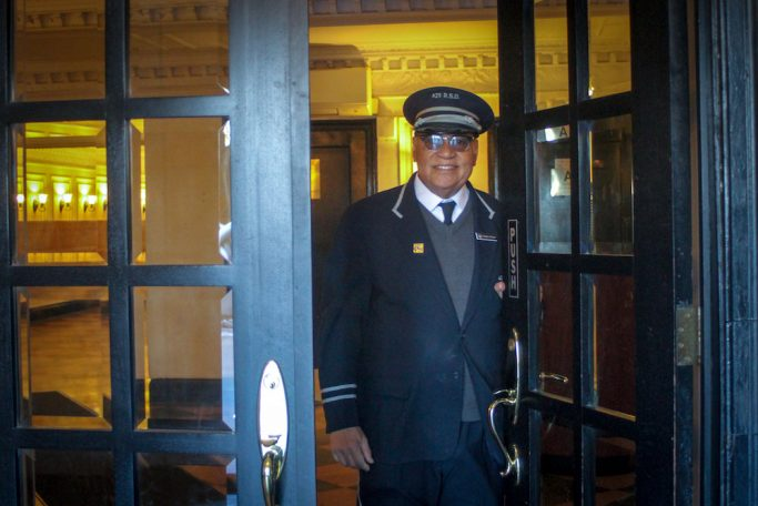 a new york city doorman