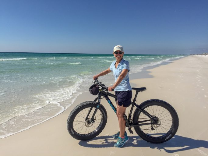 Rent sand bikes and ride along the 30A beaches