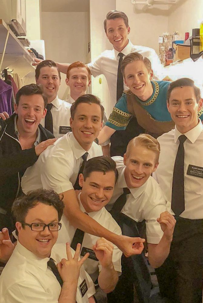Book of Mormon Ensemble Cast on Broadway