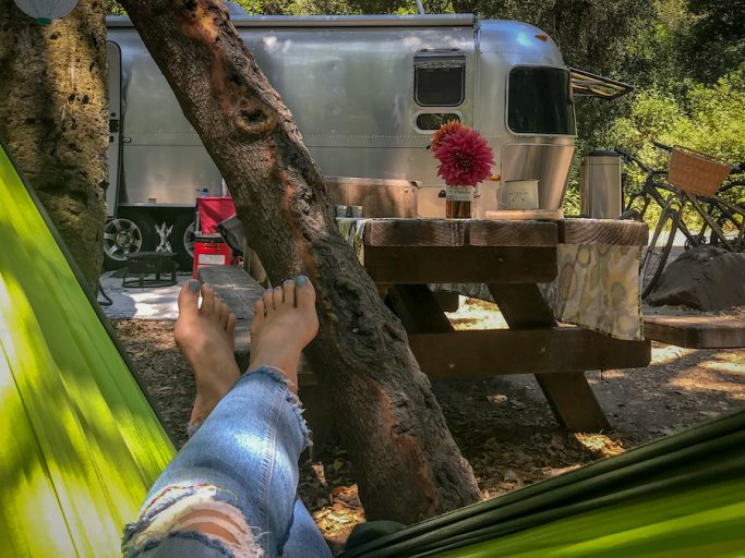 camping in an Airstream