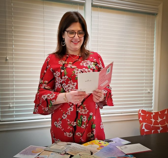 The job of a greeting card writer