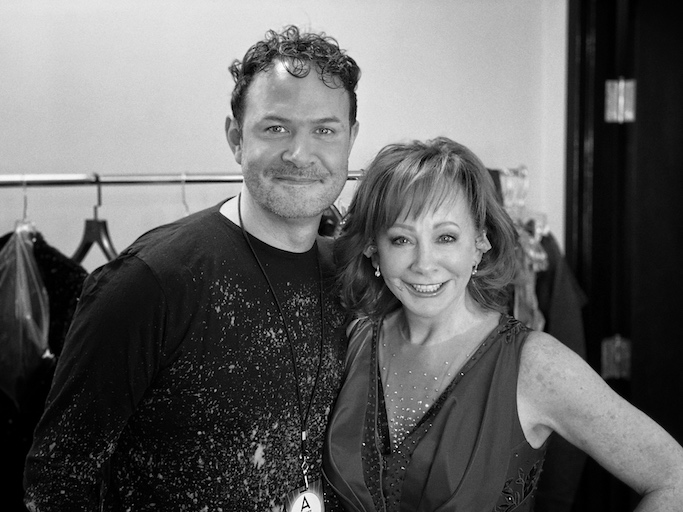 Matt Logan and Reba McEntire at CMAs