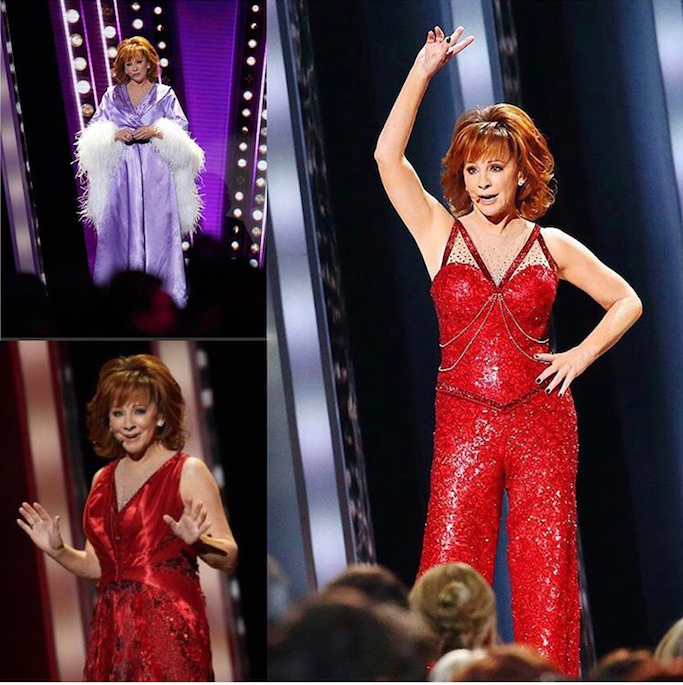 Reba McEntire CMA costume for Fancy