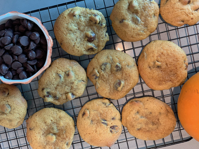 pumpkin and chocolate chip cookies