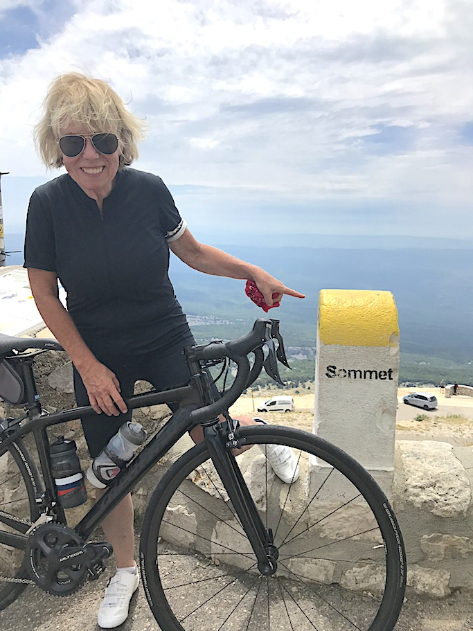 Cindy Wall biking in France