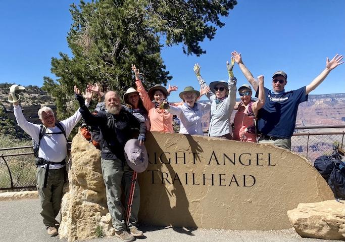 hiking success at the Grand Canyon